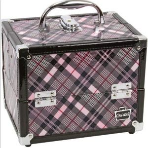 🎉pink and gray plaid makeup caboodle🎉